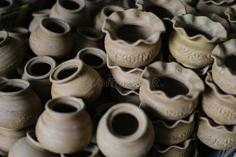Ceramic ware. Of handwork at Thailand royalty free stock images