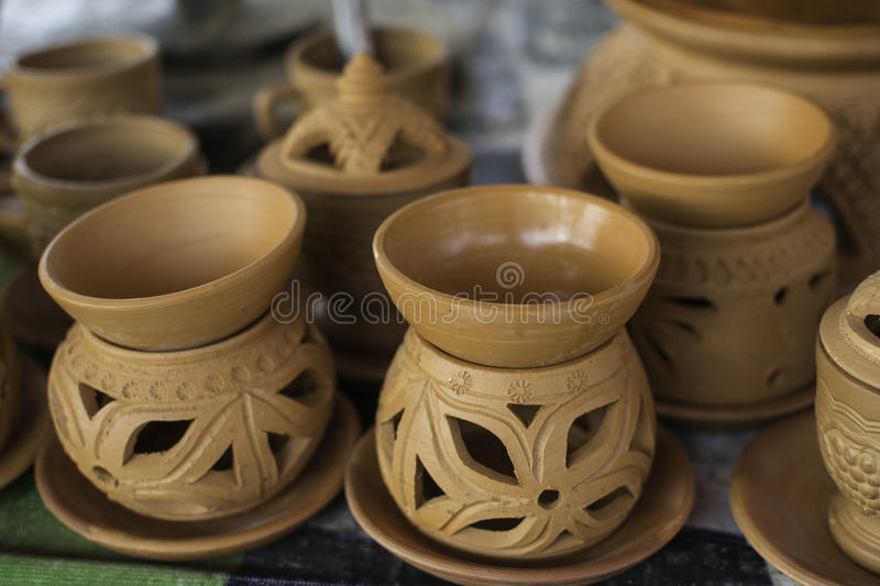 Ceramic ware. Of handwork at Thailand royalty free stock photography