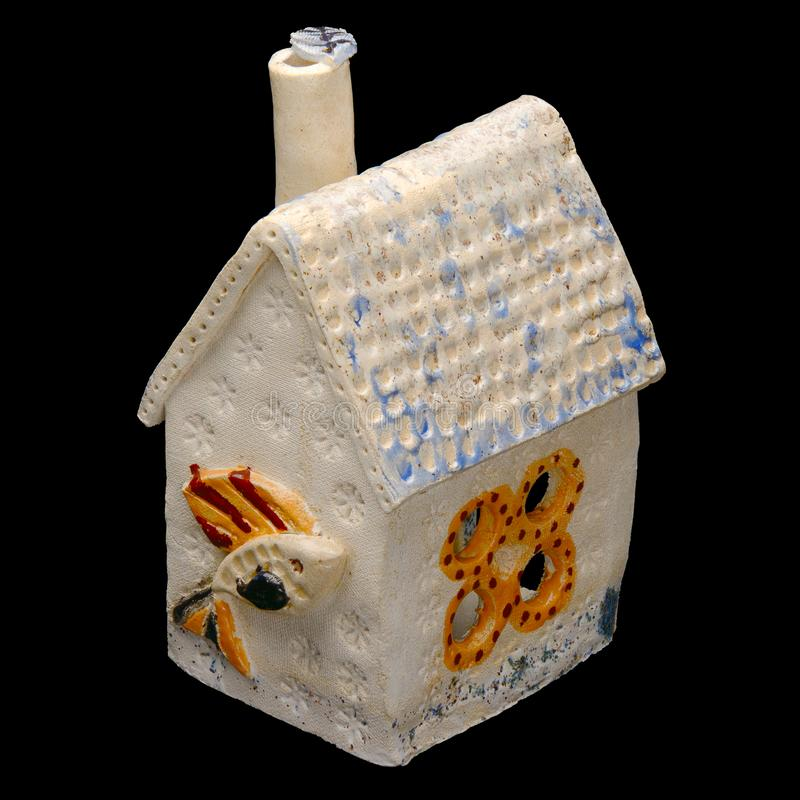 Ceramica artistica - casa del giocattolo di fantasia immagine stock libera da diritti