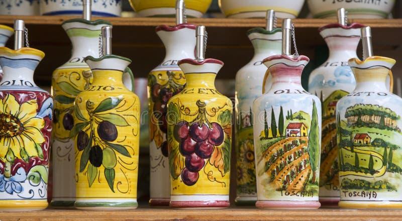 Ceramica dalla Toscana fotografie stock libere da diritti