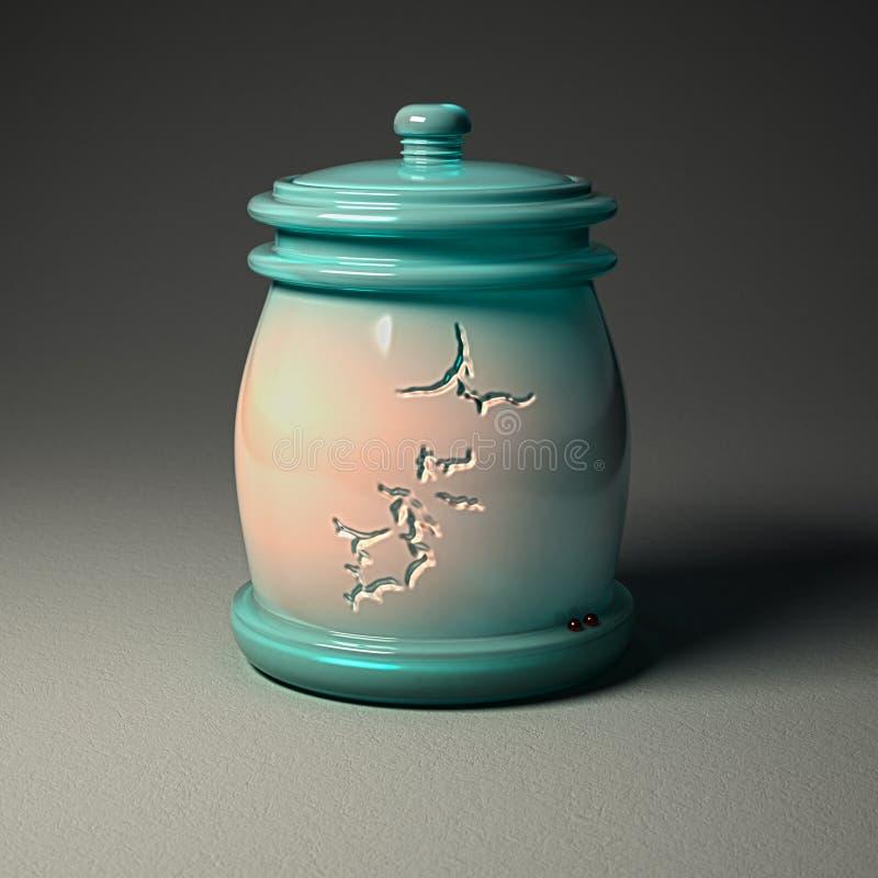 Ceramica di Digital - barattolo con progettazione rotta della terra immagine stock