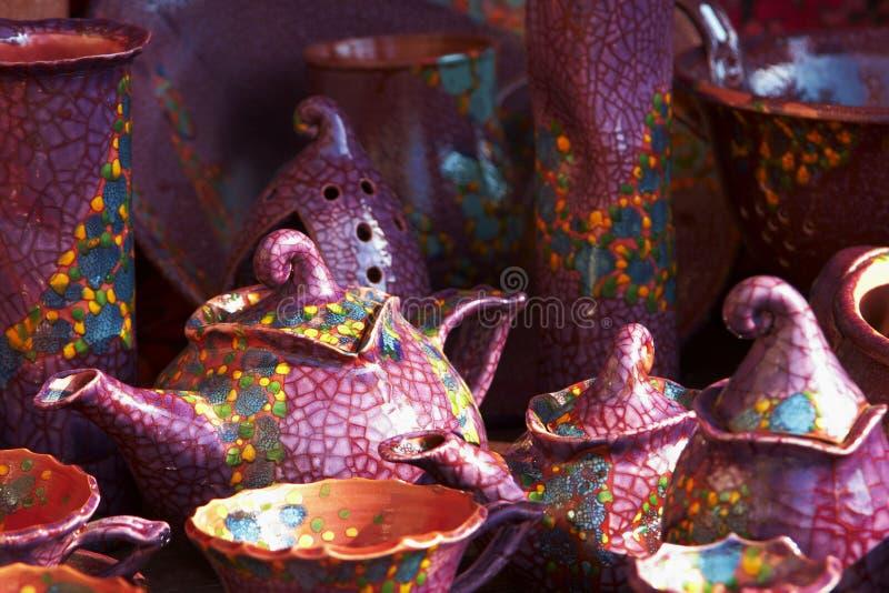 Ceramica handmade ungherese fotografia stock