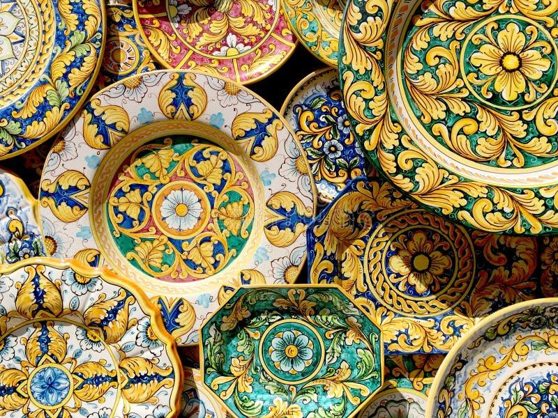 Ceramico della Sicilia immagini stock