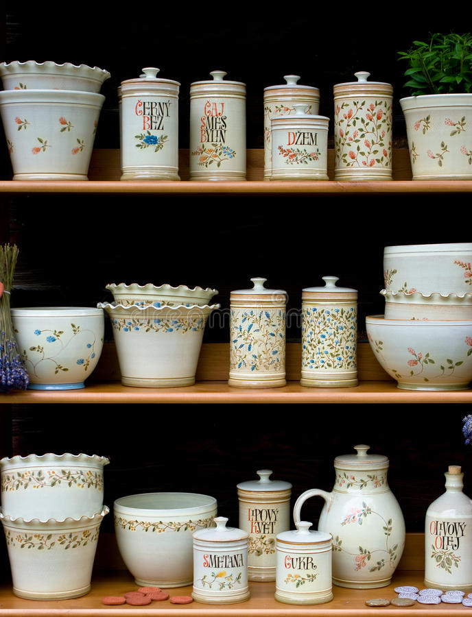 Ceramics stock images