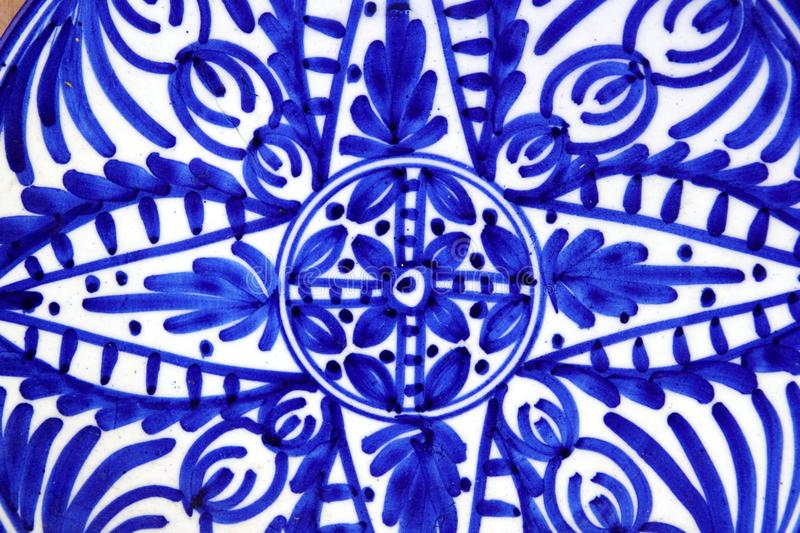 Download Ceramics Painted Blue Shapes Plate Stock Photo - Image: 19570862