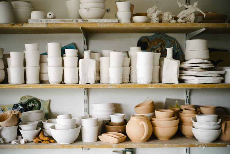 Ceramics in Workshop stock images