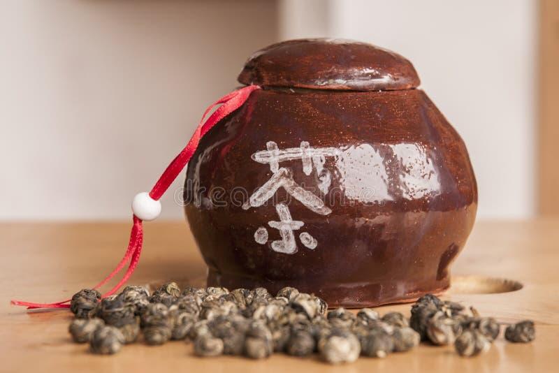 Ceramiczna herbaciana dawka obrazy stock