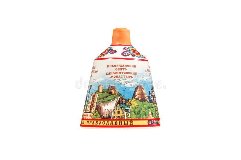 Ceramiczna pamiątki zabawka z pięknym koloru obrazem zdjęcie stock
