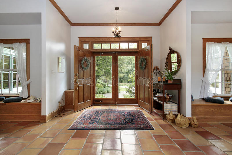 ceramiczna podłoga foyeru pomarańcze obraz royalty free