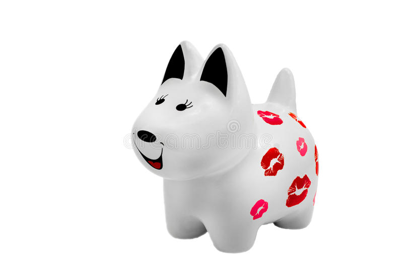 Ceramiczna psia figurka obrazy stock