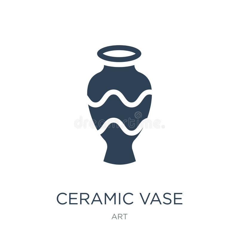 ceramiczna wazowa ikona w modnym projekta stylu ceramiczna wazowa ikona odizolowywająca na białym tle ceramiczna wazowa wektorowa ilustracja wektor