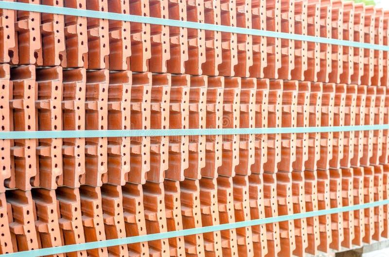 Ceramiczne dachowe płytki w stercie zdjęcie stock