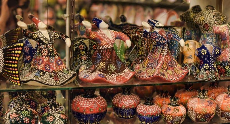 Ceramiczne figurki derwisze zdjęcia royalty free