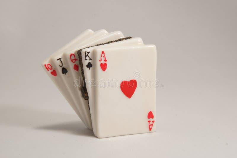 Ceramiczni karta do gry zdjęcie royalty free