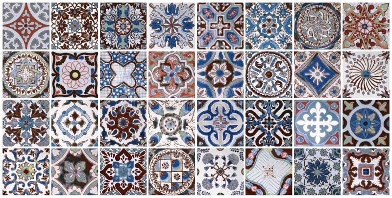 Ceramiczny ściany płytki tło zdjęcie stock