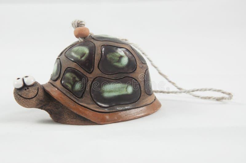 Ceramiczny brown żółw fotografia royalty free