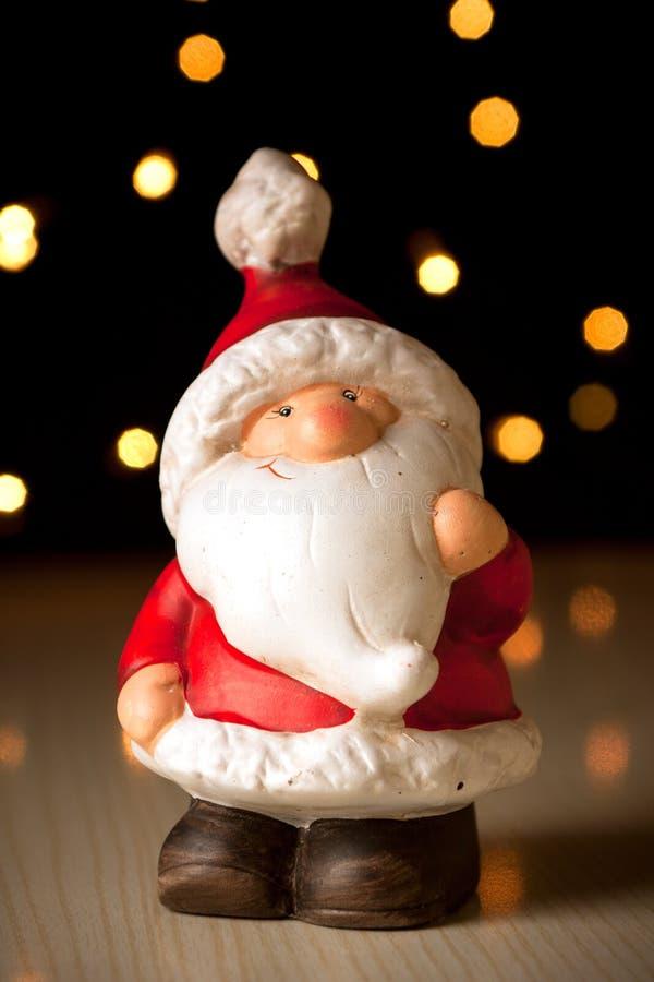 ceramiczny Claus Santa zdjęcie royalty free