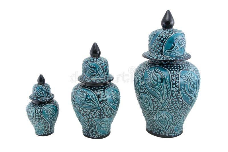 Ceramiczny cruse Indyczy Kutahya çini kà ¼ p zdjęcie royalty free