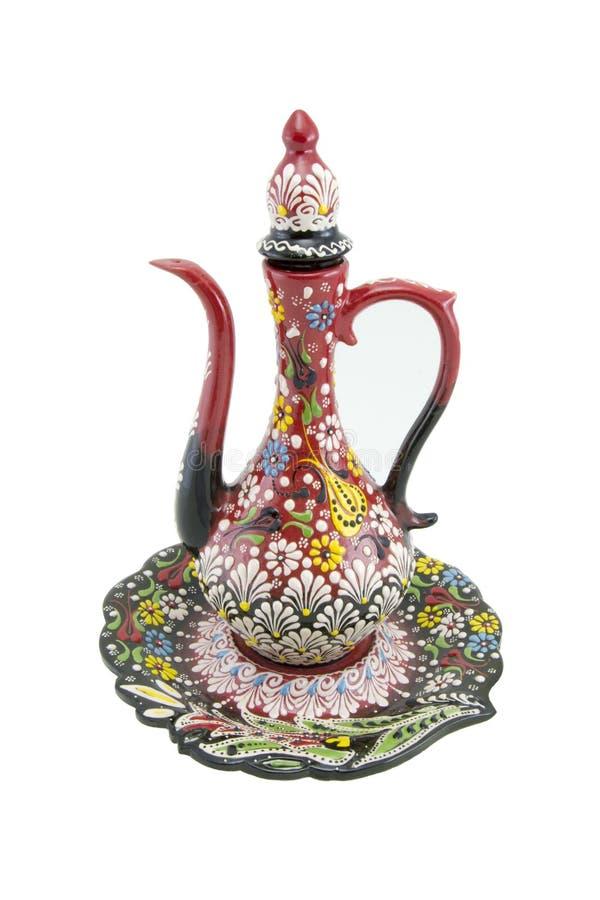 Ceramiczny ewer, çini Turcja, Narin ibrik Kutahya obrazy royalty free