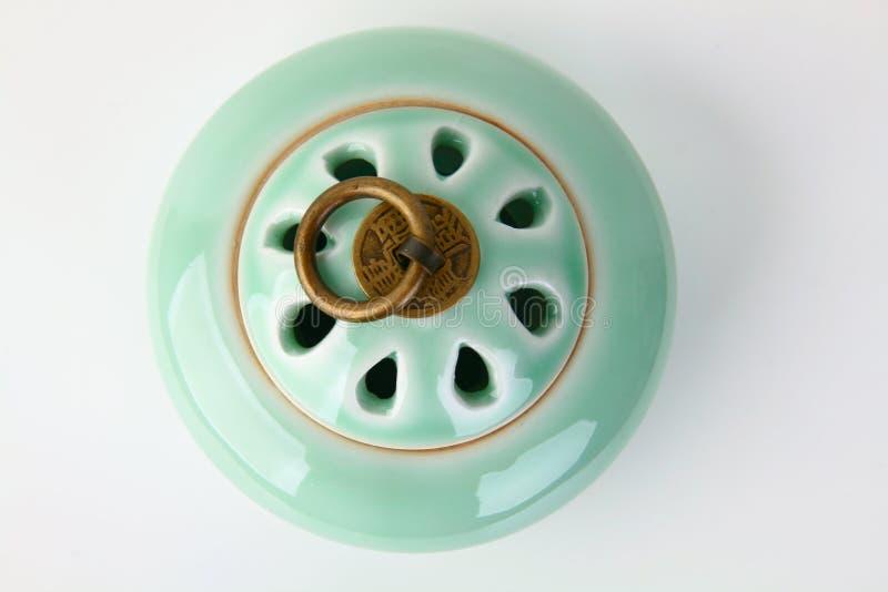 Ceramiczny kadzidłowy palnik obraz stock