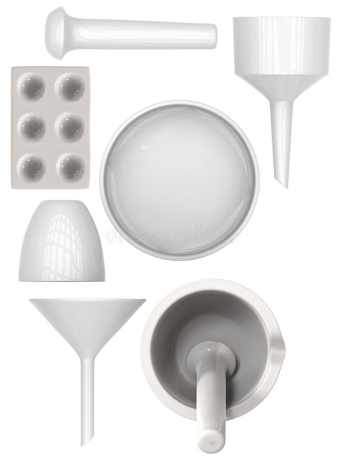 Ceramiczny labware fotografia stock