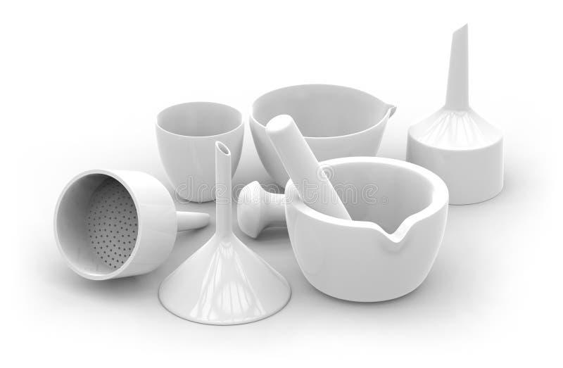 Ceramiczny labware obraz royalty free