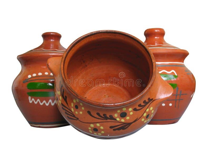 ceramiczny odosobniony deseniowy garncarstwo obraz stock