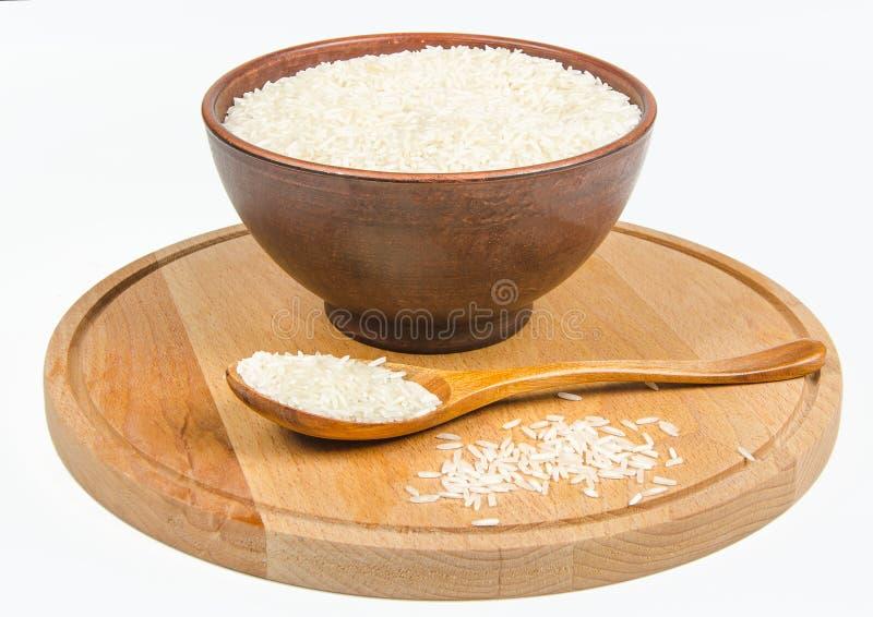 Ceramiczny puchar z ryż obrazy stock