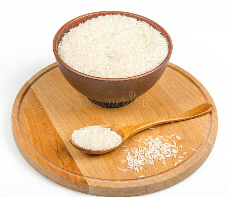 Ceramiczny puchar z ryż zdjęcia royalty free