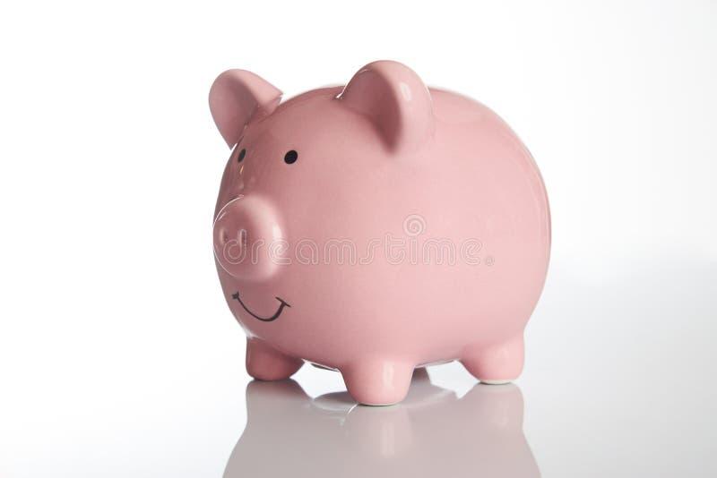 Ceramiczny Różowy prosiątko bank fotografia royalty free