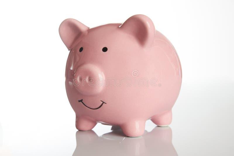 Ceramiczny Różowy prosiątko bank fotografia stock