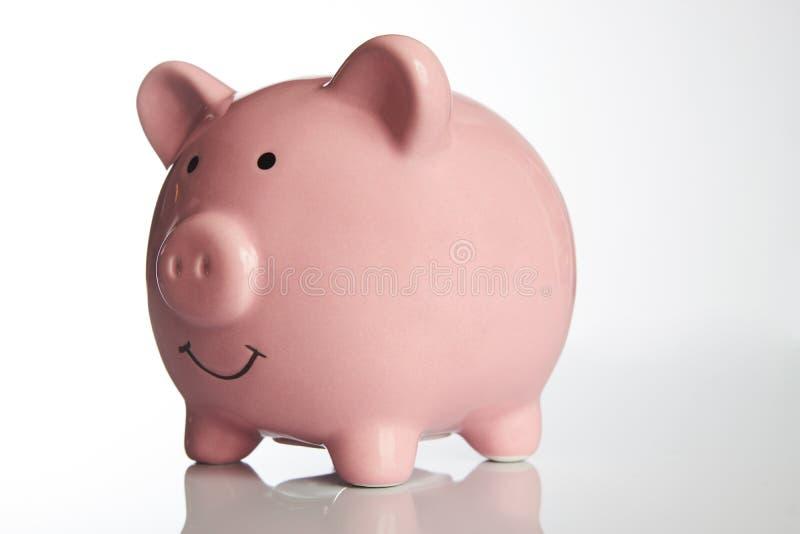 Ceramiczny Różowy prosiątko bank zdjęcia stock