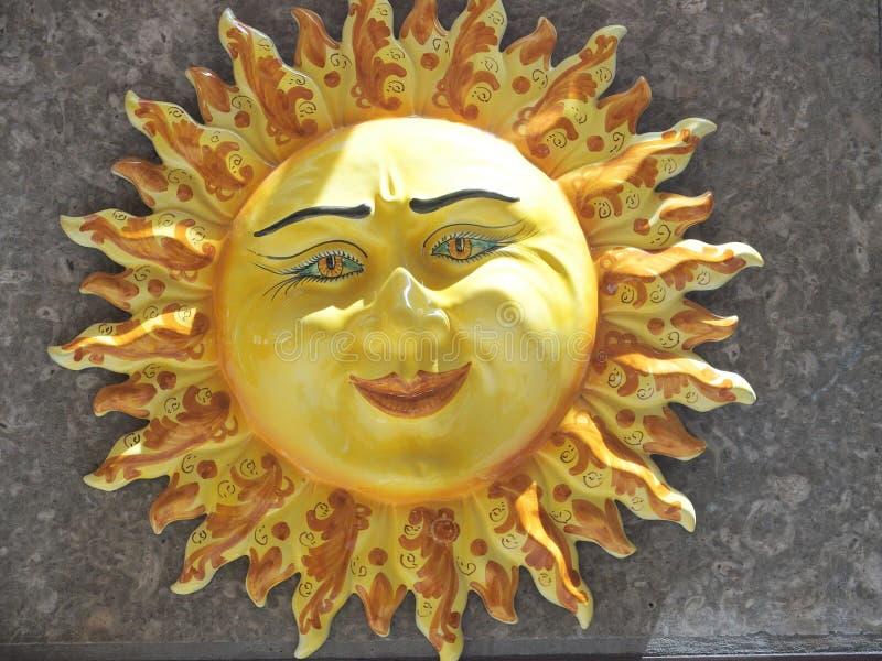 ceramiczny słońce obrazy royalty free