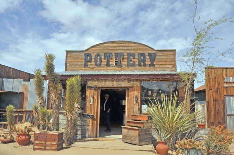 Ceramiczny sklep W Pionierskim miasteczku, Kalifornia zdjęcie royalty free