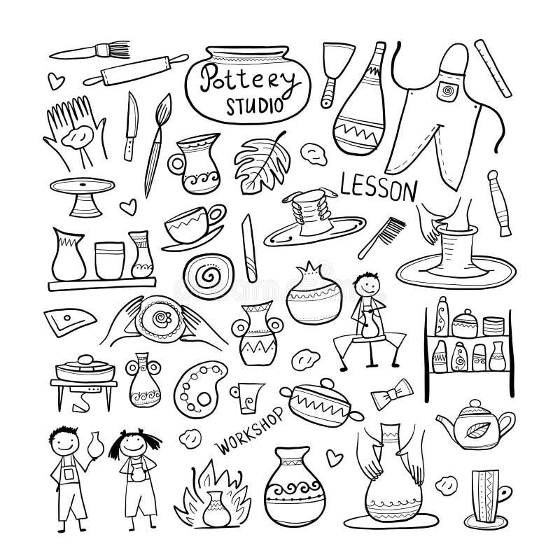 Ceramiczny studio, barwi tło dla twój projekta royalty ilustracja