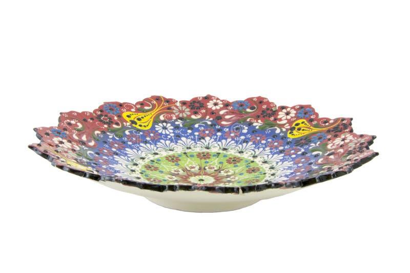 Ceramiczny talerz Indyczy Kutahya çini tabaka fotografia stock