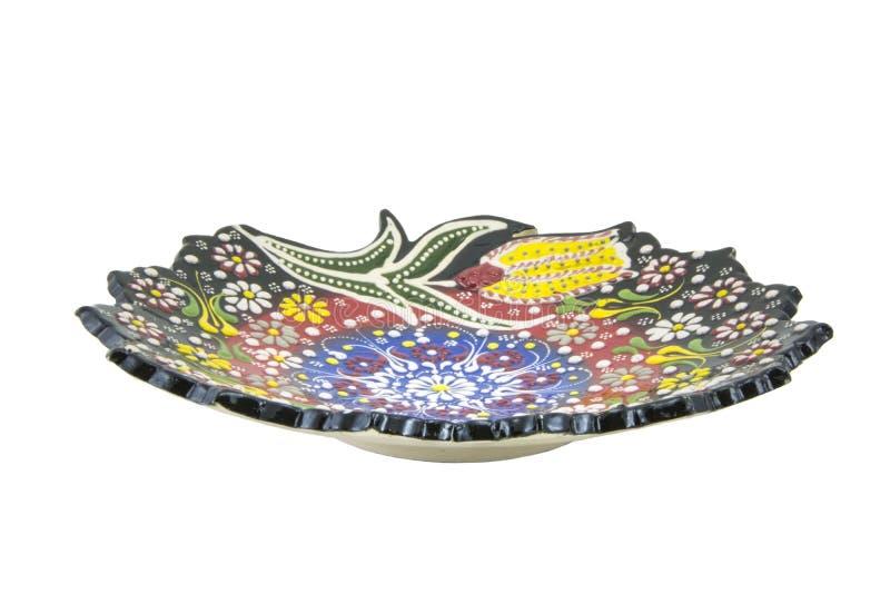 Ceramiczny talerz Indyczy Kutahya çini tabaka obraz stock