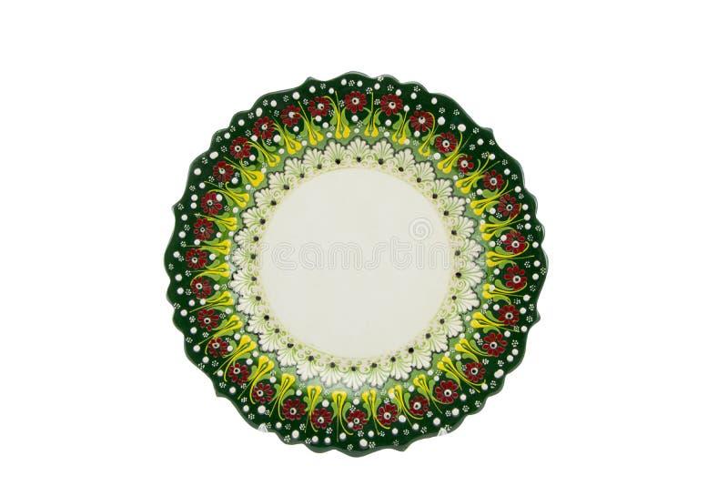 Ceramiczny talerz Indyczy Kutahya çini tabaka zdjęcie stock