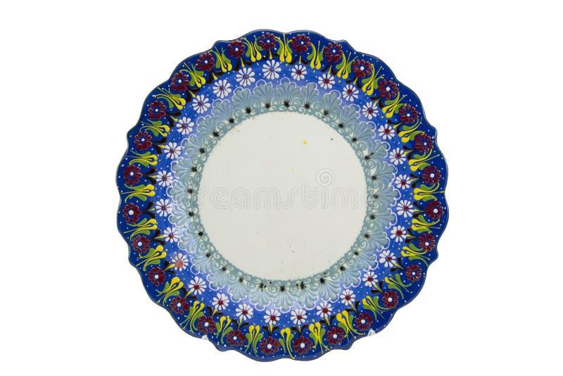 Ceramiczny talerz Indyczy Kutahya çini tabaka zdjęcia stock