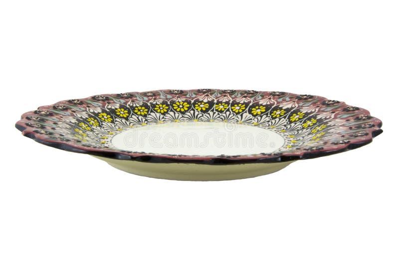 Ceramiczny talerz Indyczy Kutahya çini tabaka obrazy stock