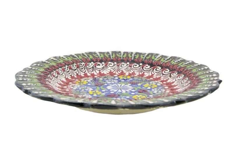 Ceramiczny talerz Indyczy Kutahya çini tabaka obrazy royalty free