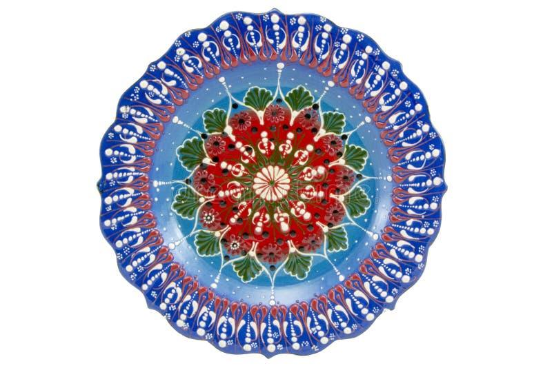 Ceramiczny talerz Indyczy Kutahya çini tabaka zdjęcia royalty free