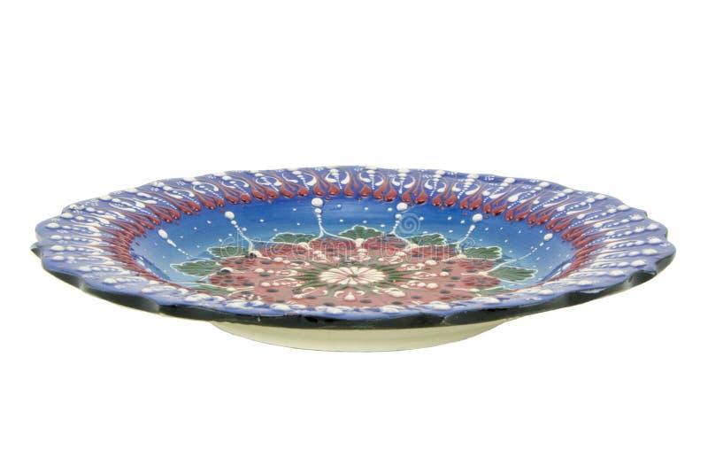 Ceramiczny talerz Indyczy Kutahya çini tabaka obraz royalty free