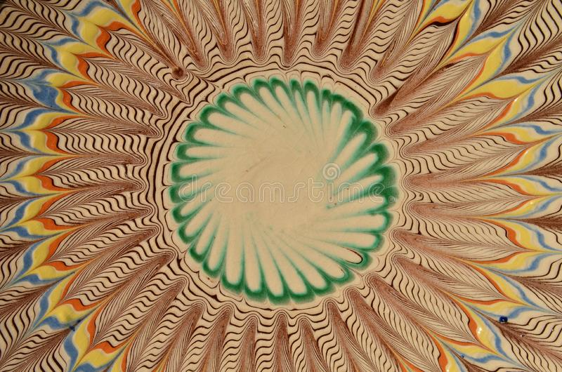 ceramiczny tradycyjny Abstrakcjonistyczny summetric tło ilustracji