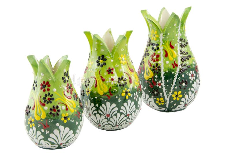 Ceramiczny tulipan Indyczy Kutahya çini lala zdjęcia royalty free