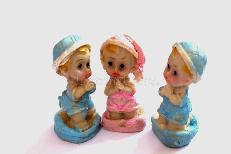 Ceramisch het bidden speelgoed royalty-vrije stock foto