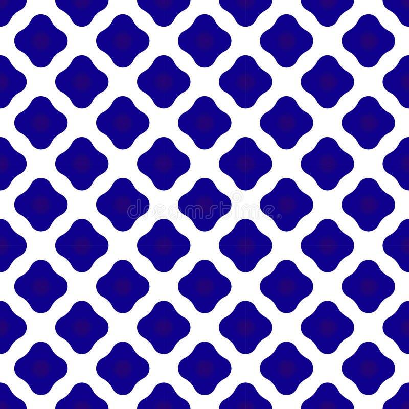 Ceramisch patroonblauw en wit vector illustratie