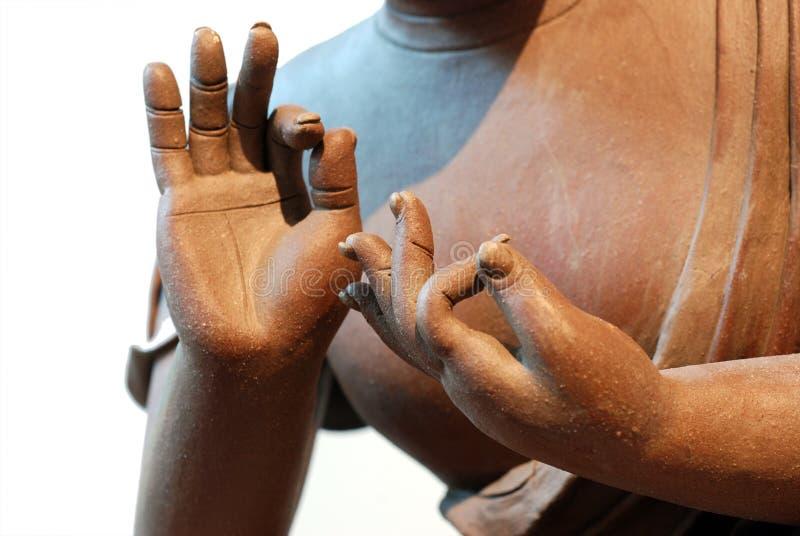 Ceramisch standbeeld van Boedha royalty-vrije stock fotografie