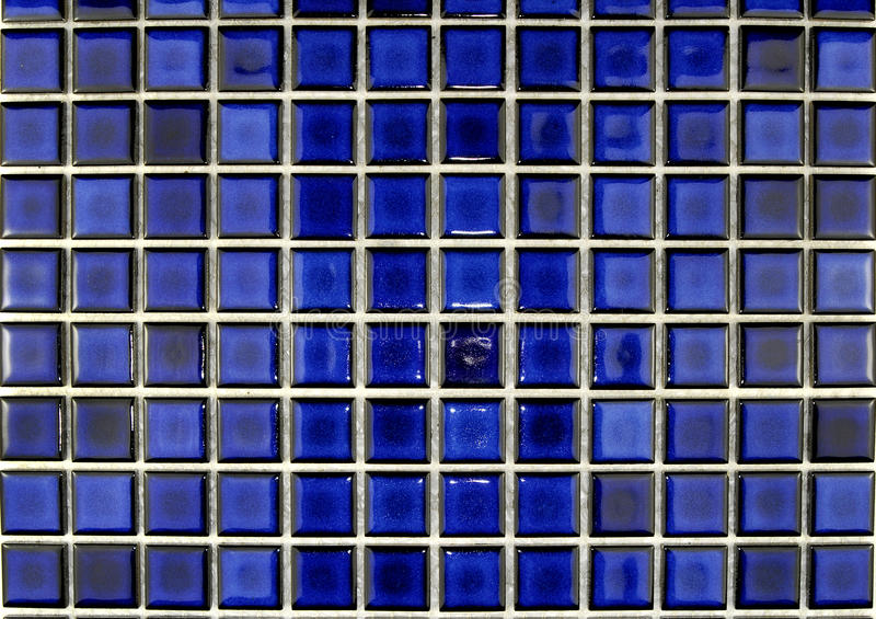 Ceramische blauwe mozaïektegels royalty-vrije stock afbeeldingen