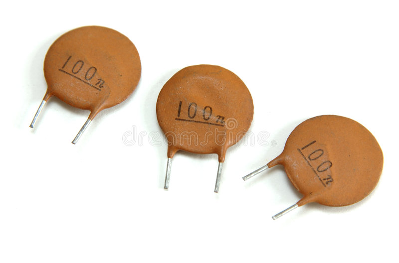 Ceramische Condensator stock foto's